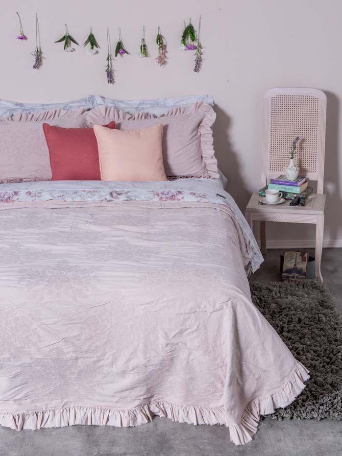Κουβέρτα Roses Pink